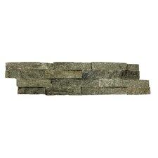 Random Sized Natural Stone Splitface Tile in Sage Green