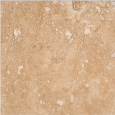 """Tuscany Noce 18"""" x 18"""" Travertine Tile in Honed Brown (Set of 10)"""