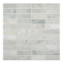 Arabescato Carrara 1'' x 3'' Marble Mosaic Tile