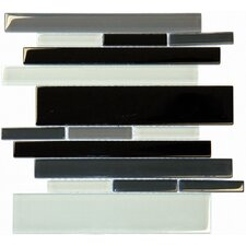 RSP Random Sized Glass Mosaic Tile in Black