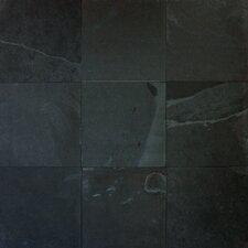 Montauk 16'' x 16'' Slate Field Tile in Black