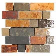 Random Sized Slate Mosaic Tile in Califormia Gold