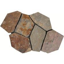 California Random Sized Slate Mosaic Tile in Multi Color