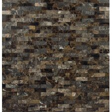Emperador 12'' x 12'' Marble Splitface Tile in Brown