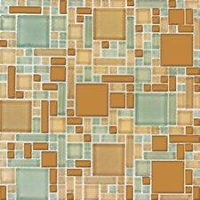 Magic Blend Random Sized Glass Mosaic Tile in Mocha Cream