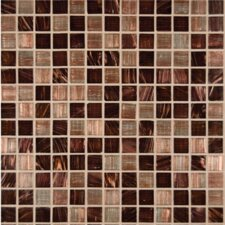 Iridescent 0.75'' x 0.75'' Glass Mosaic Tile in Brown