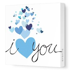 Imaginations Hearts Stretched Canvas Art