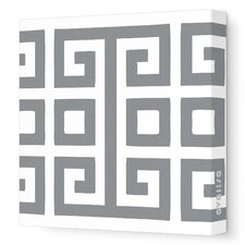 Pattern Big Square Stretched Canvas Art