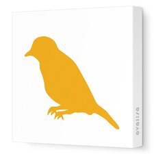 Silhouettes Bird Stretched Canvas Art