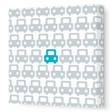 Things That Go Auto Pattern Stretched Canvas Art