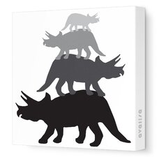 Animals Tri Tower Stretched Canvas Art