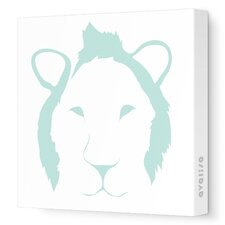 Animal Faces Lion Graphic Art on Canvas