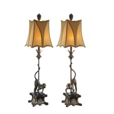 """38"""" H Table Lamp with Bell Shade (Set of 2)"""