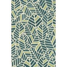 Tropez Blue & Green Tropical Inspired Indoor/Outdoor Rug