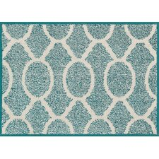 Terrace Teal/Ivory Area Rug