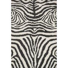 Kiara Shag Ivory/Charcoal Area Rug