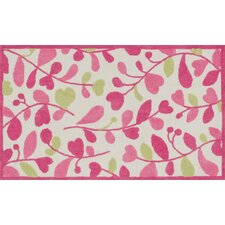 Zoey Pink/Green Area Rug