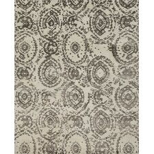 Cyrus Hand-Knotted Silver/Mocha Area Rug