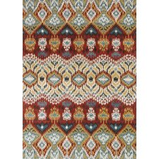 Leyda Hand-Tufted Red Area Rug