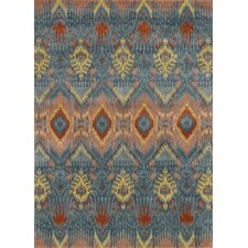Leyda Hand-Tufted Blue Area Rug