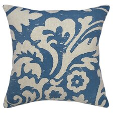 Floral Jacobean Linen Throw Pillow