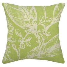 Floral Botanical Linen Throw Pillow