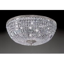 Crystal Baskets 10 Light Semi-Flush Mount