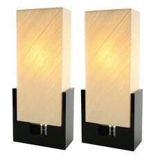 "24"" H Table Lamp with Rectangular Shade (Set of 2)"