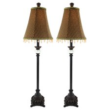 """Kiley Buffet 29"""" H Table Lamp with Bell Shade (Set of 2)"""