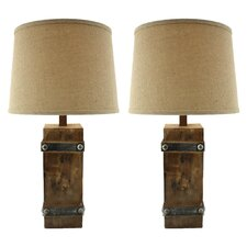 "Brockton II 27"" H Table Lamp with Empire Shade (Set of 2)"