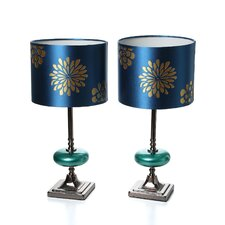 """Braxton 19"""" H Table Lamp with Drum Shade (Set of 2)"""