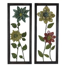 2 Piece Kimberly Flower Wall Décor Set