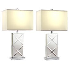 "Rory 25"" H Table Lamp with Rectangular Shade (Set of 2)"