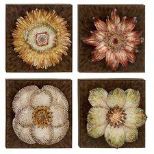 4 Piece Floral Wall Décor Set