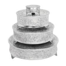 4 Piece Round Cake Stands Set