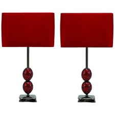 "Lucas Modern 24"" H Table Lamp with Drum Shade (Set of 2)"