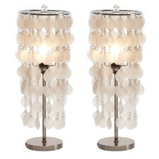 "Darrion 15"" H Table Lamp with Drum Shade (Set of 2)"