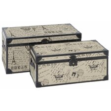 Paris Script 2 Piece Trunk Set