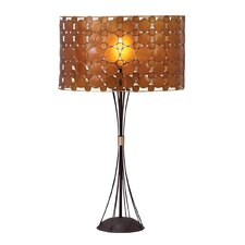 "Dempsey 28"" H Table Lamp with Drum Shade"