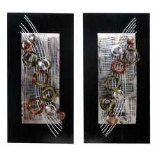 2 Piece Abstract Staff Wall Décor Set