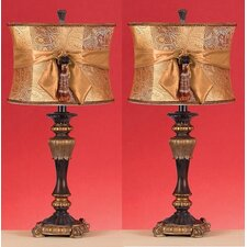 """Michelle 26"""" H Table Lamp with Drum Shade (Set of 2)"""
