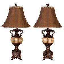 "Kiwa 30"" H Table Lamp with Bell Shade (Set of 2)"