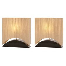 "Mako 17"" H Table Lamp with Drum Shade (Set of 2)"