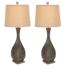 "Dana 33"" H Table Lamp with Drum Shade (Set of 2)"