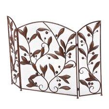 3 Panel Metal Leaves Fireplace Room Divider