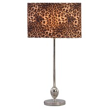 """Cheetah 25"""" H Table Lamp with Drum Shade (Set of 2)"""