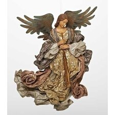 Angel Mache Flying Ornament Figurine
