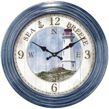 "Decorative Home 18"" Lighthouse Dial Wall Clock"