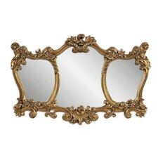 Ornate 3 Panel Shaped Mirror