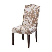 Camel Back Nailhead Parsons Chair
